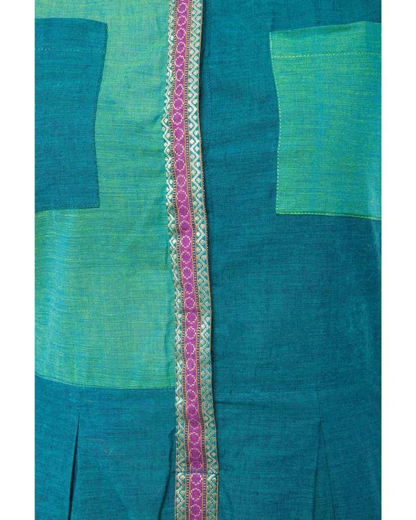 Teal mangalgiri dress 3
