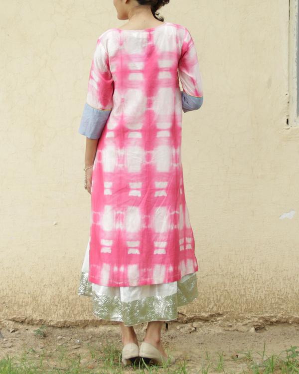 Pink shibori kurta with inner 1
