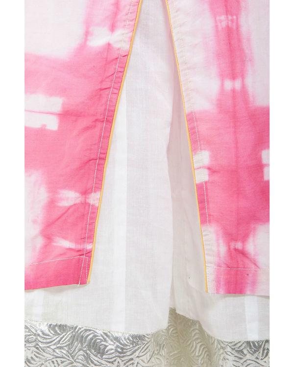 Pink shibori kurta with inner 2