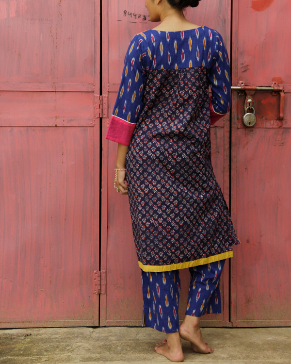Set of indigo ikat kurta set 1