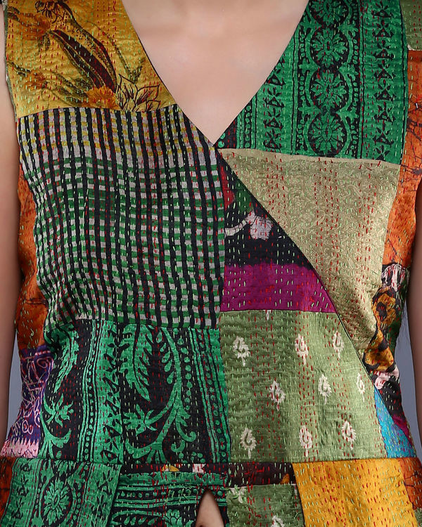 Vintage kantha pointed peplum top 2