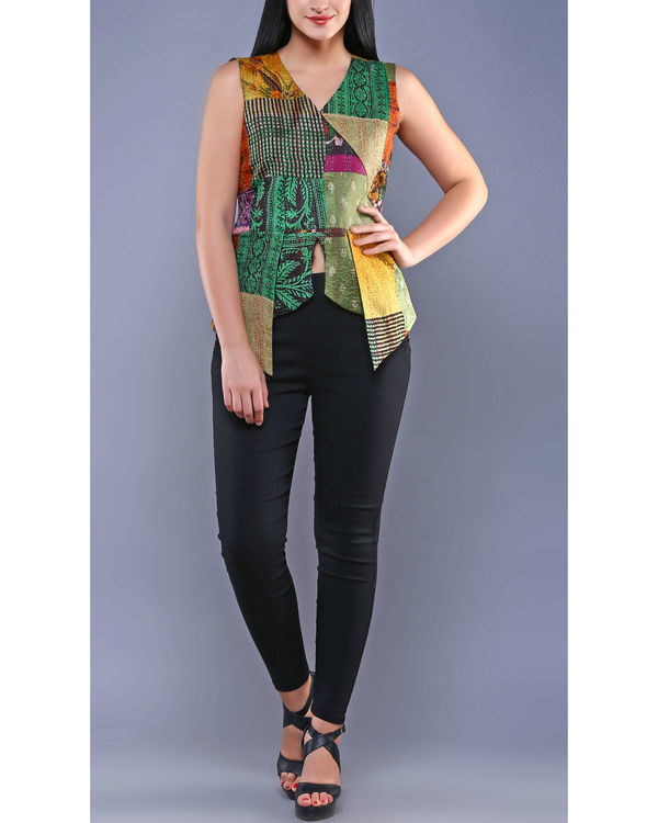 Vintage kantha pointed peplum top 3