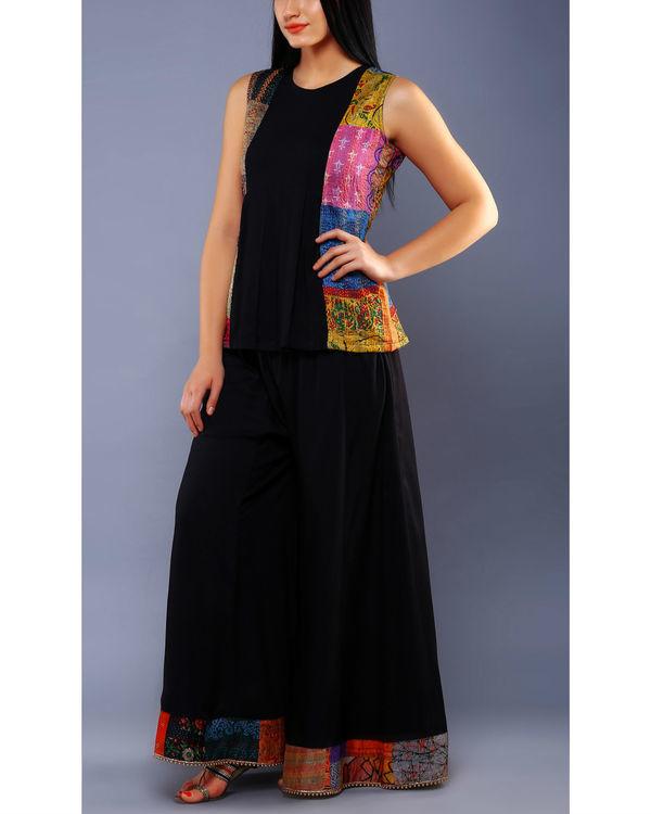 Black embellished palazzo pants 1