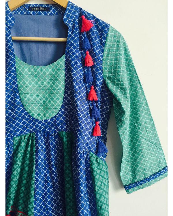 Blue tassel tunic 1