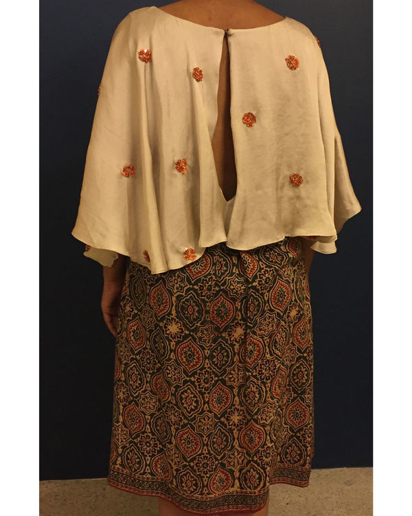 Kutch cape dress 2