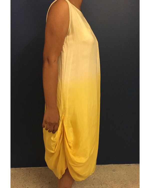 Yellow ombre dress 1