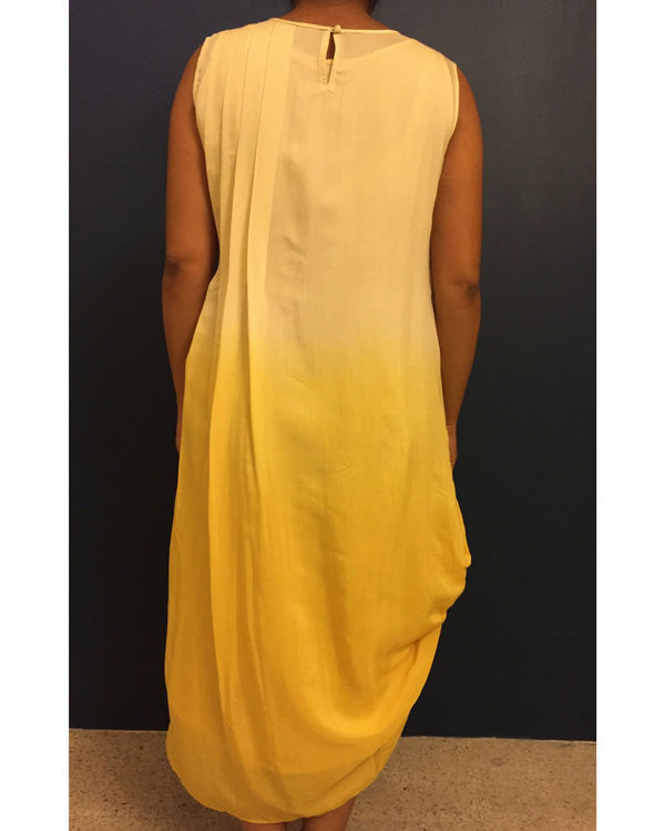 Yellow ombre dress 2