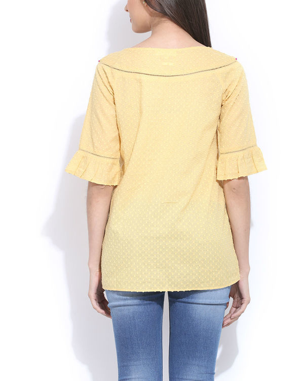 Yellow embroidered top 2