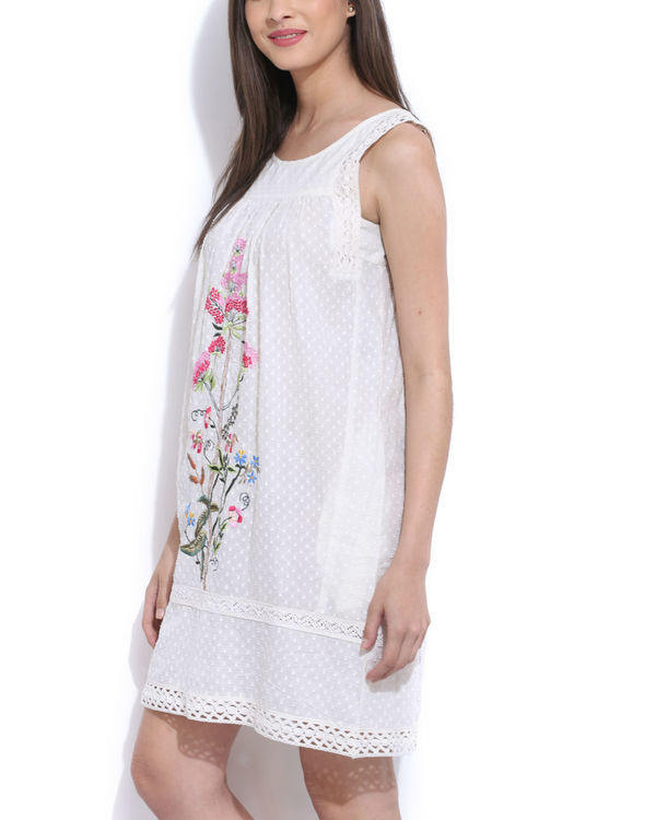 Off white embroidered tunic 1