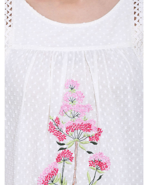 Off white embroidered tunic 3