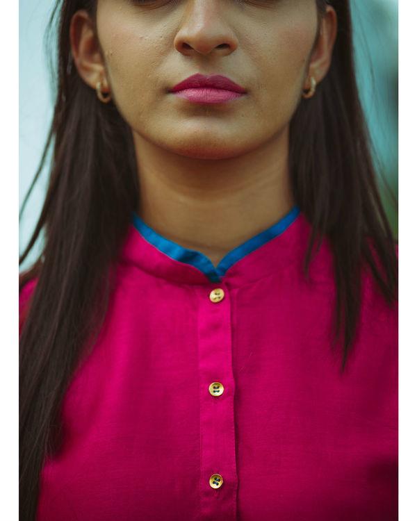 Pink chanderi kurta 1