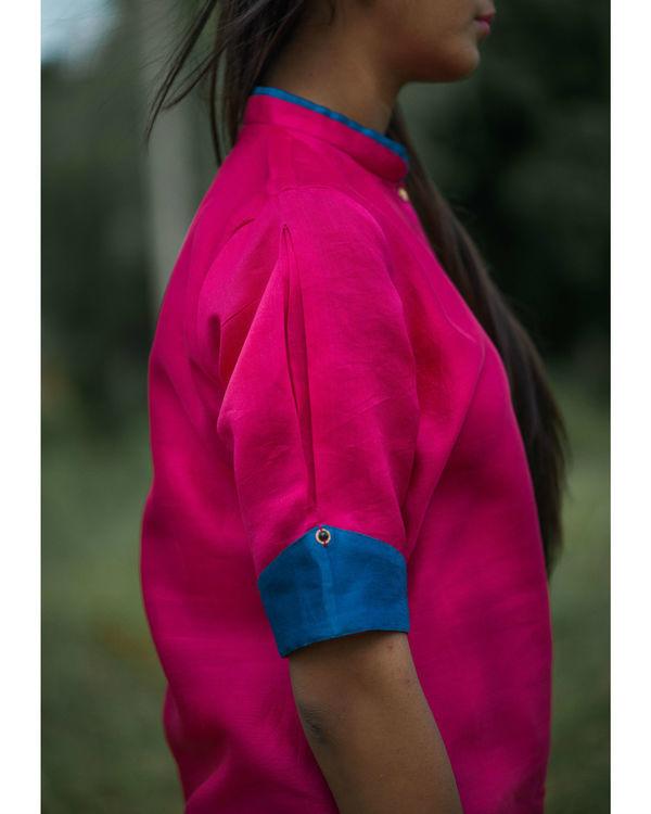 Pink chanderi kurta 2