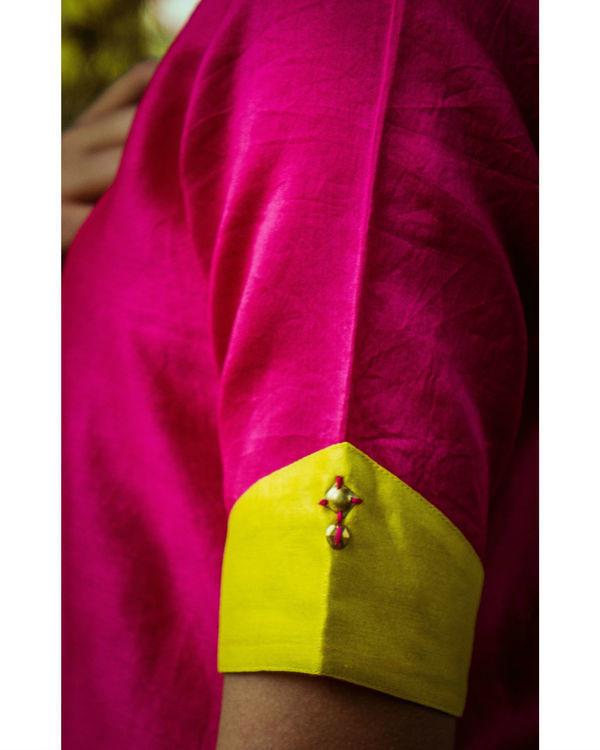 Pink and mustard kurta 2