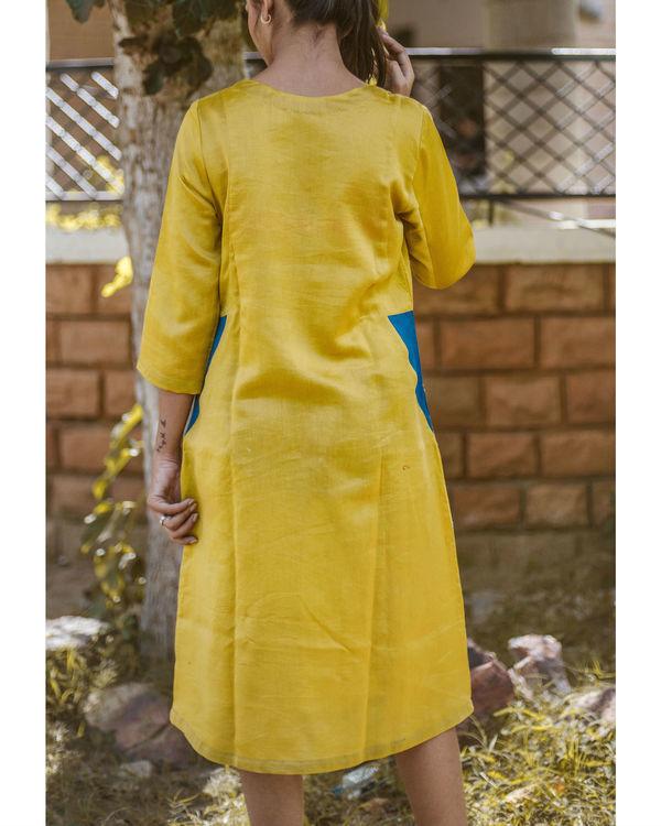 Yellow chanderi dress 1