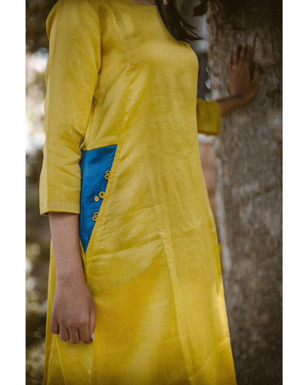 Yellow chanderi dress 2