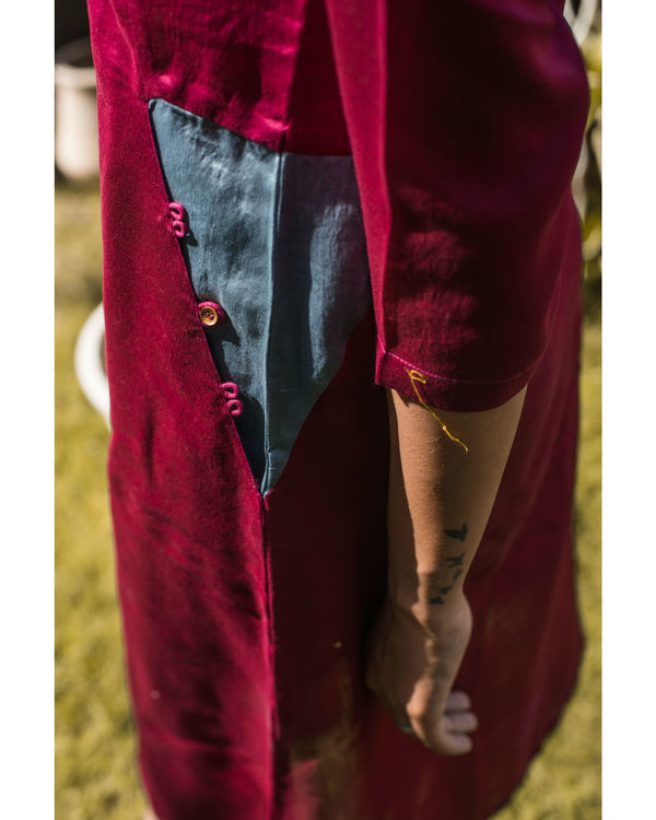 Mulberry chanderi dress 1