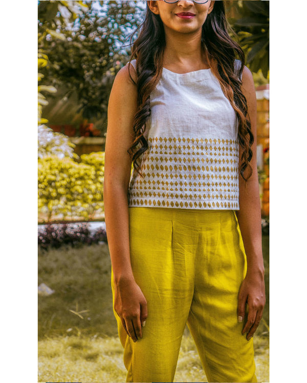 Mustard cotton trouser 1