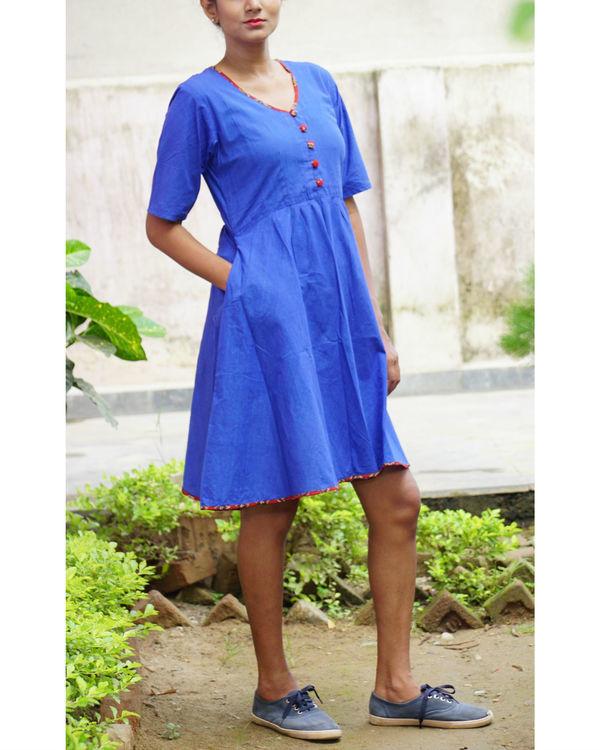 Blue midi dress 1