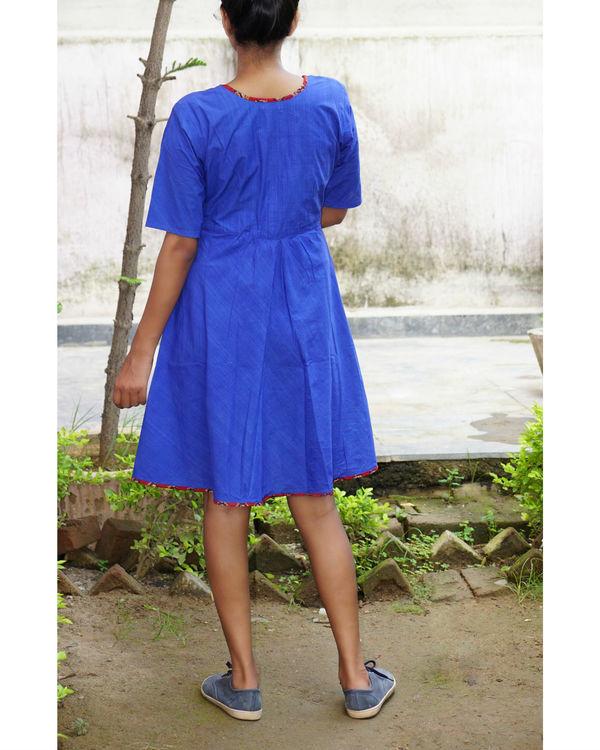 Blue midi dress 2