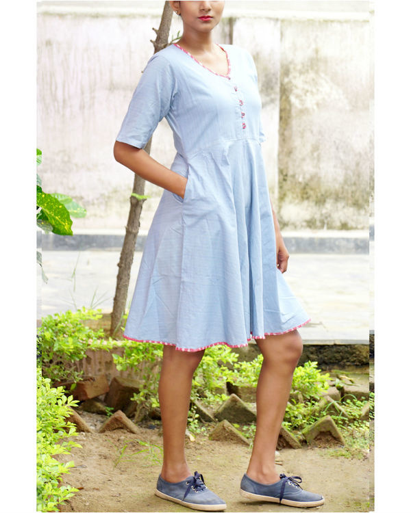 Ice blue midi dress 1