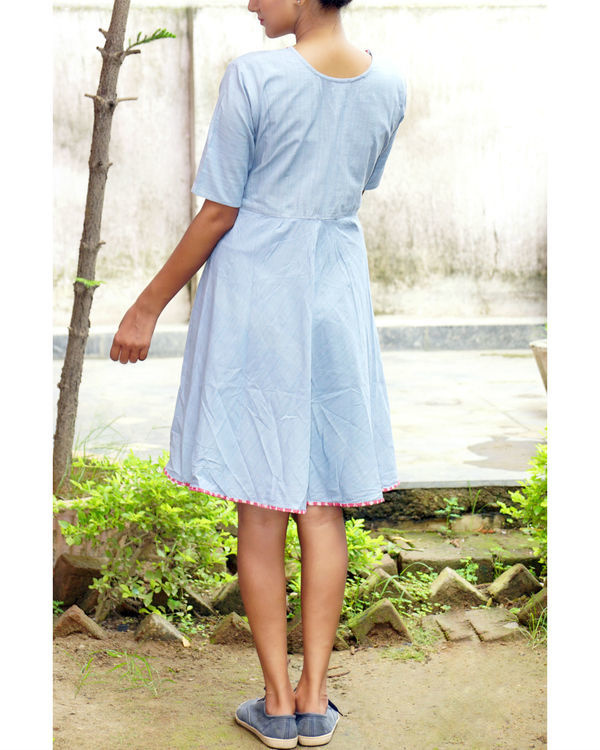 Ice blue midi dress 2