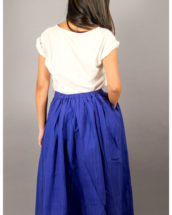 Blue buttondown skirt 2
