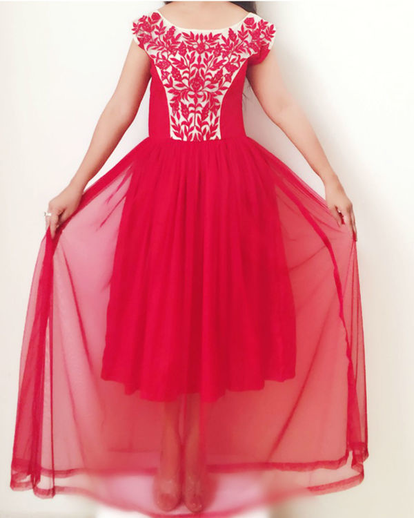 Red princess gown 1