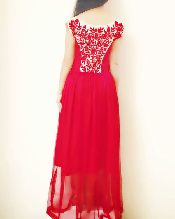 Red princess gown 2