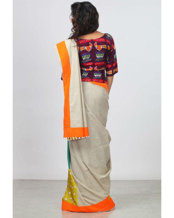 Blocked bird sari 1