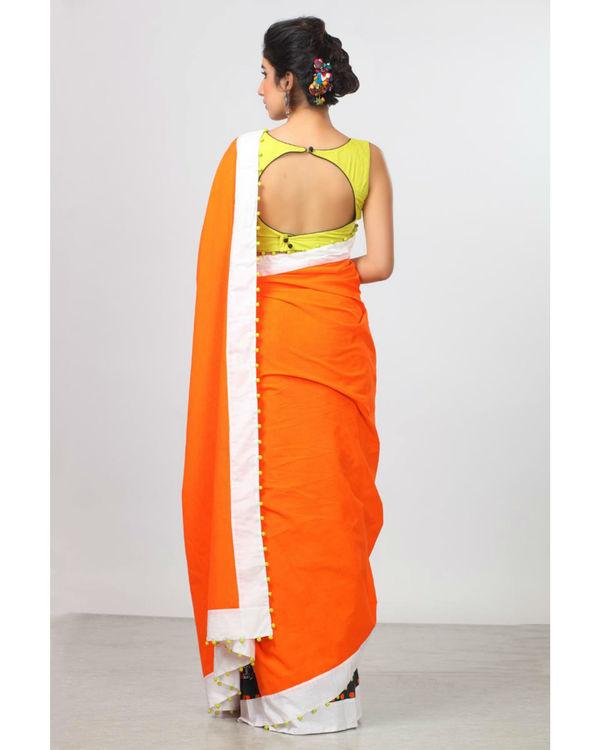Persimmon orange sari 1