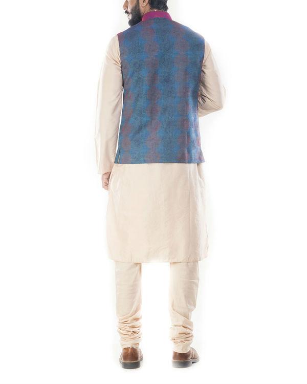 Peacock blue waistcoat 1