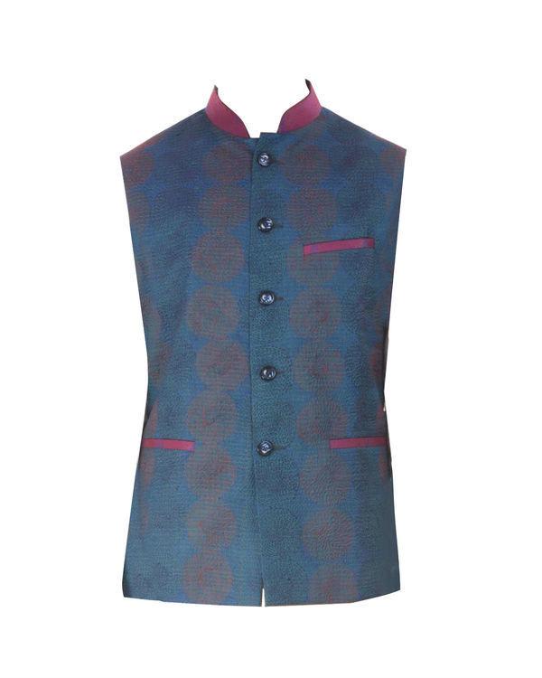 Peacock blue waistcoat 2