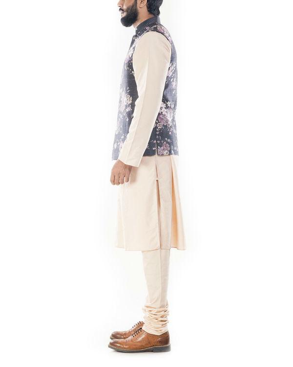 Ivory floral printed jacket 1