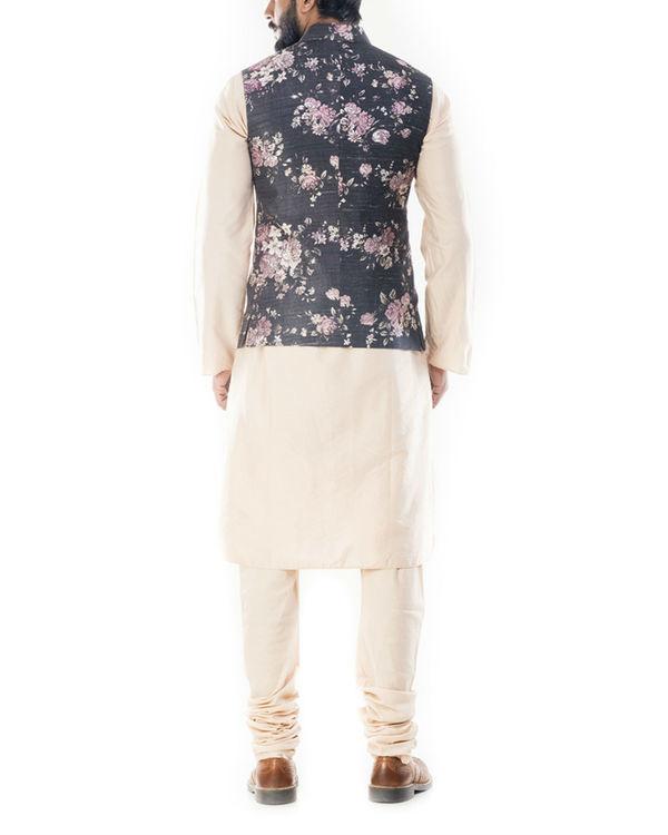Ivory floral printed jacket 2