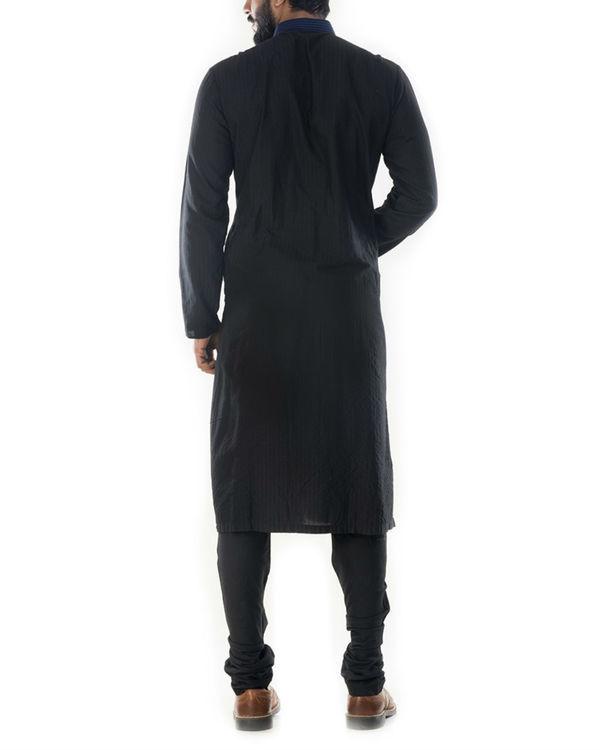 Jet black velvet jacket 2