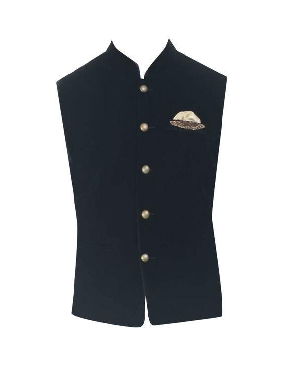 Jet black velvet jacket 3