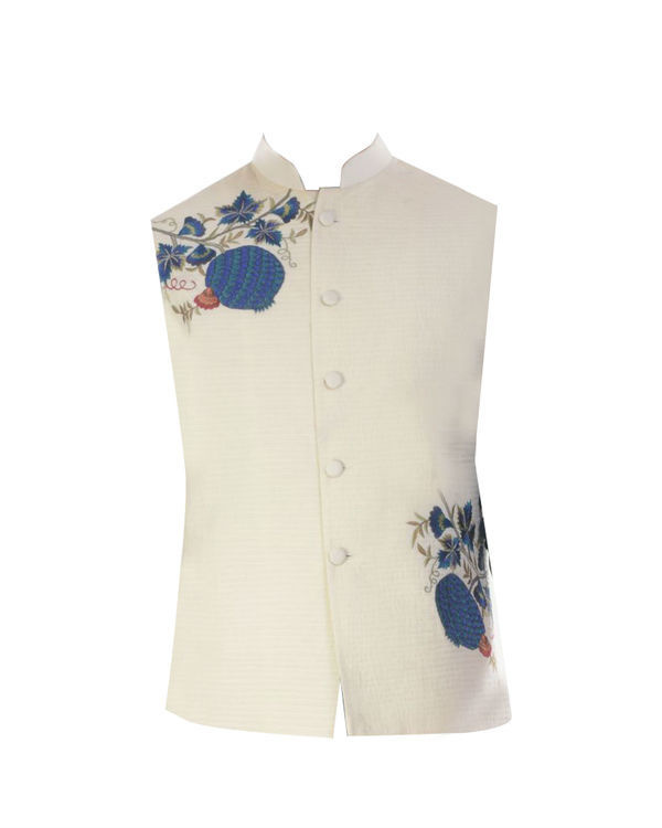 Light cream nehru jacket 3