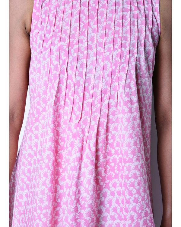Pink pintuck dress 1