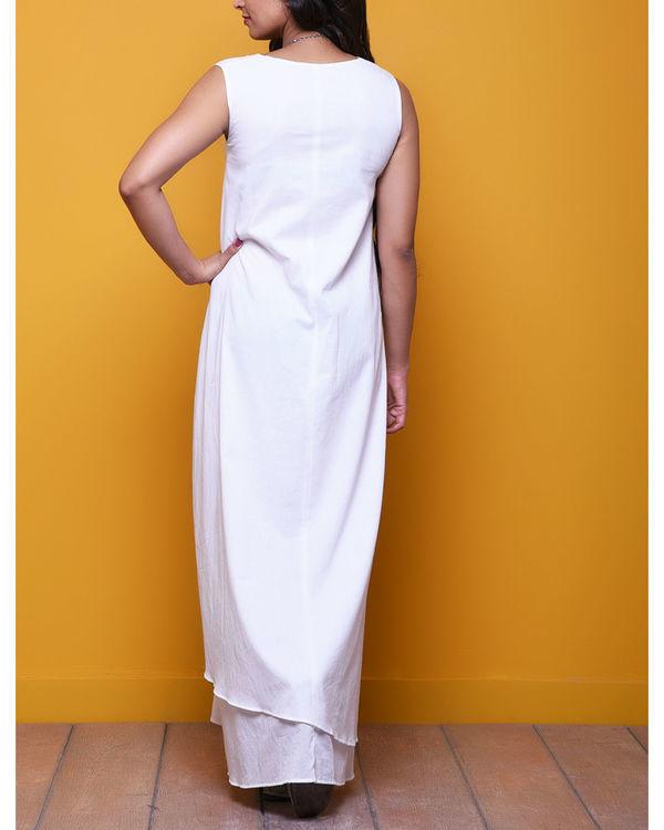 White layered long dress 1