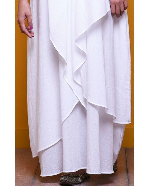White layered long dress 2