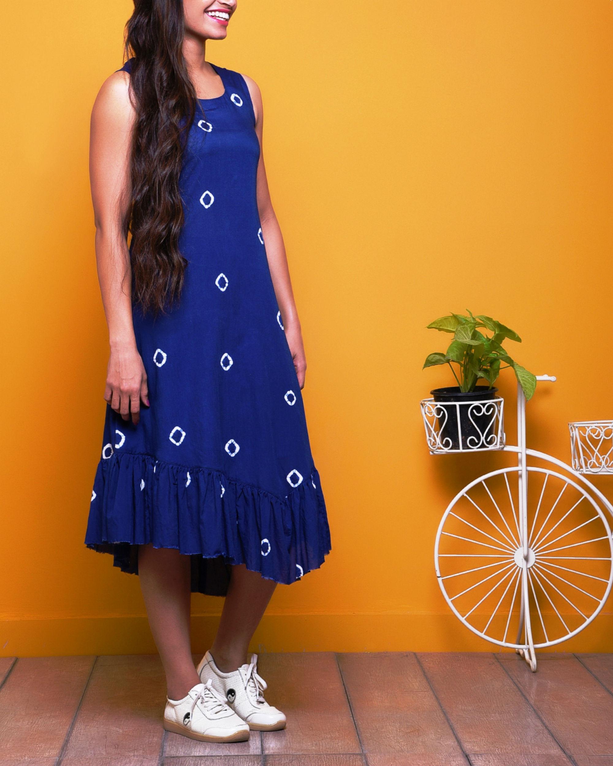 Indigo Batik Dress By Raasleela