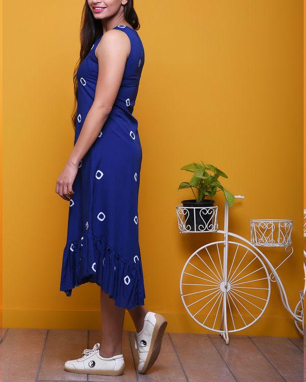 Indigo batik dress 2