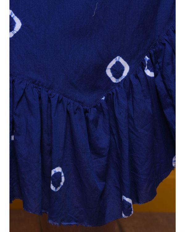 Indigo batik dress 3