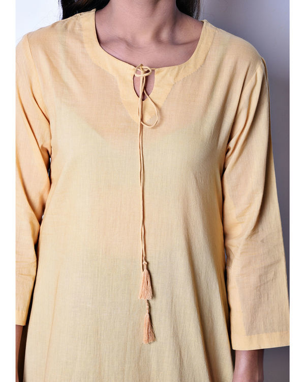 Beige side panel tunic 1