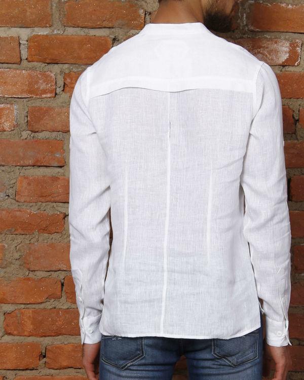 White linen kurta shirt 1