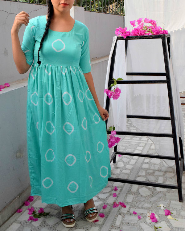 Mint bandhini dress 1