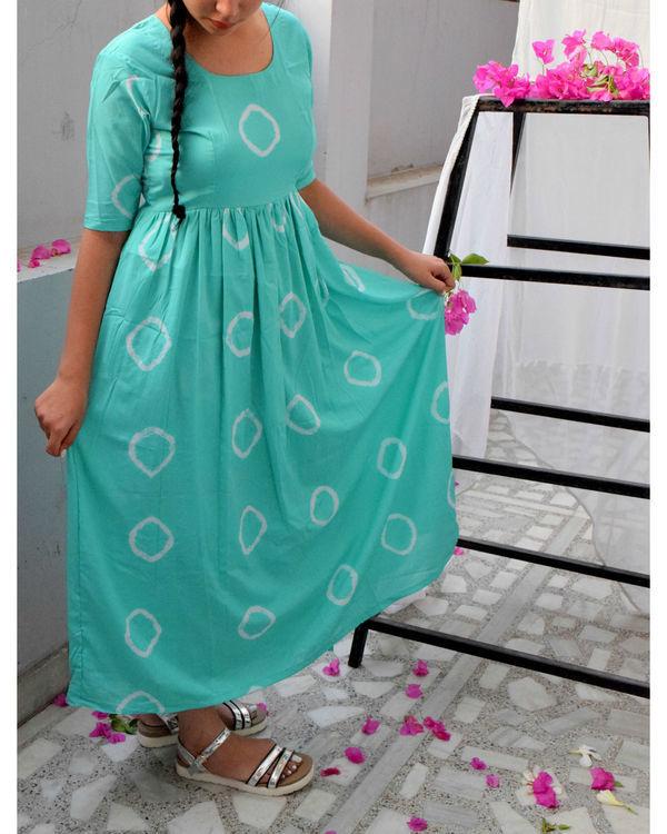 Mint bandhini dress 2