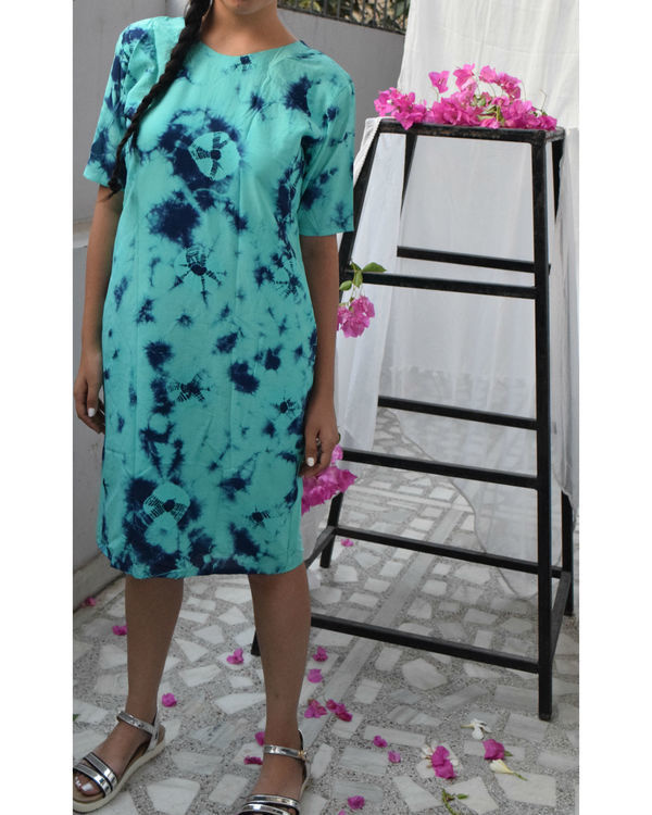 Turquoise marble dress 1