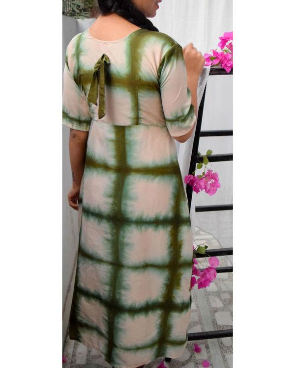 Green checkered dress 1
