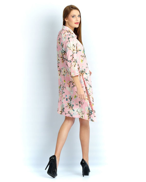 Light pink floral a line tunic 2